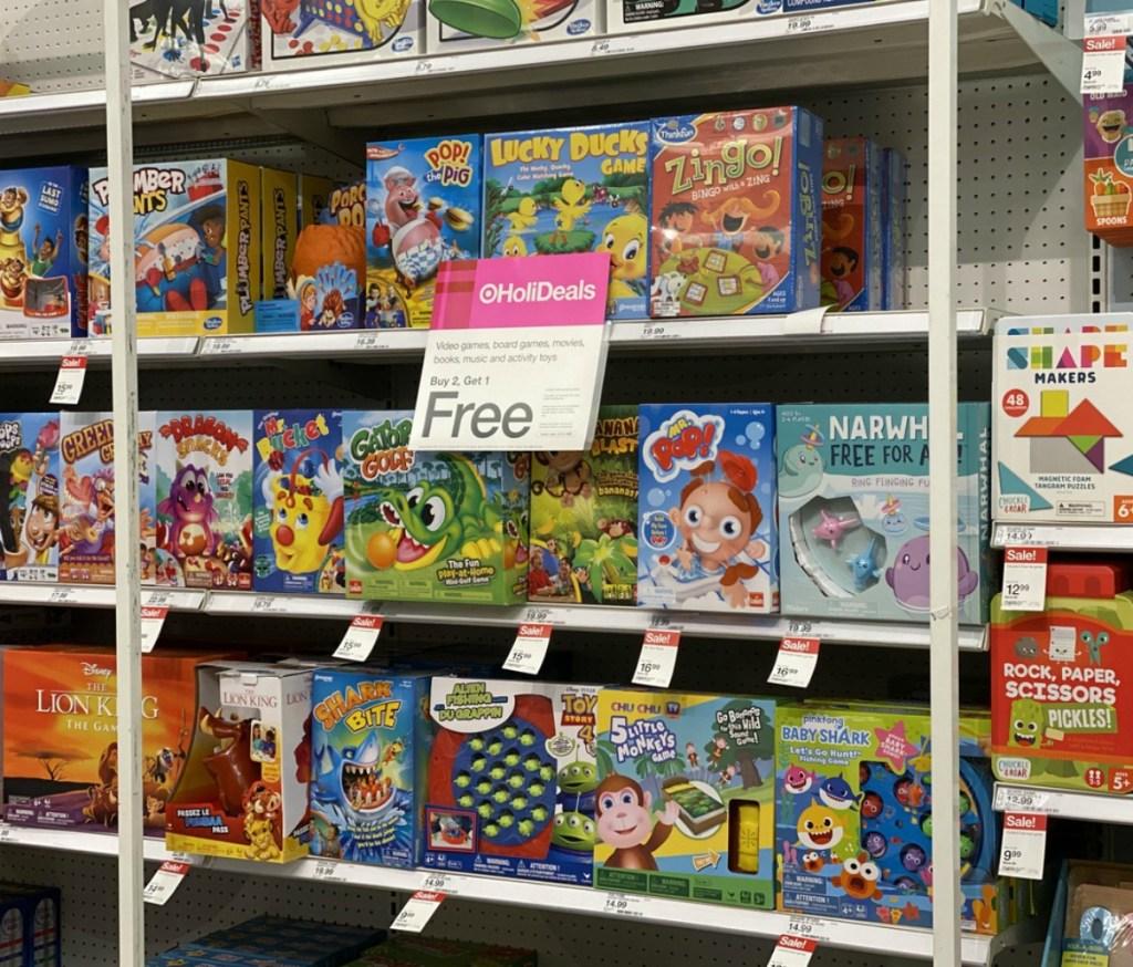 board games at Target