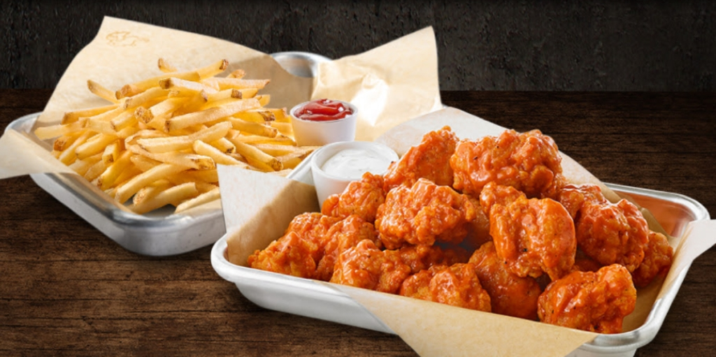 Buffalo Wild Wings and fries
