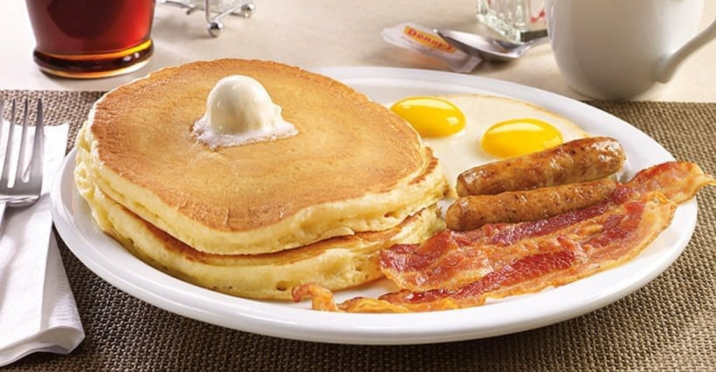 Denny's Grand Slam breakfast