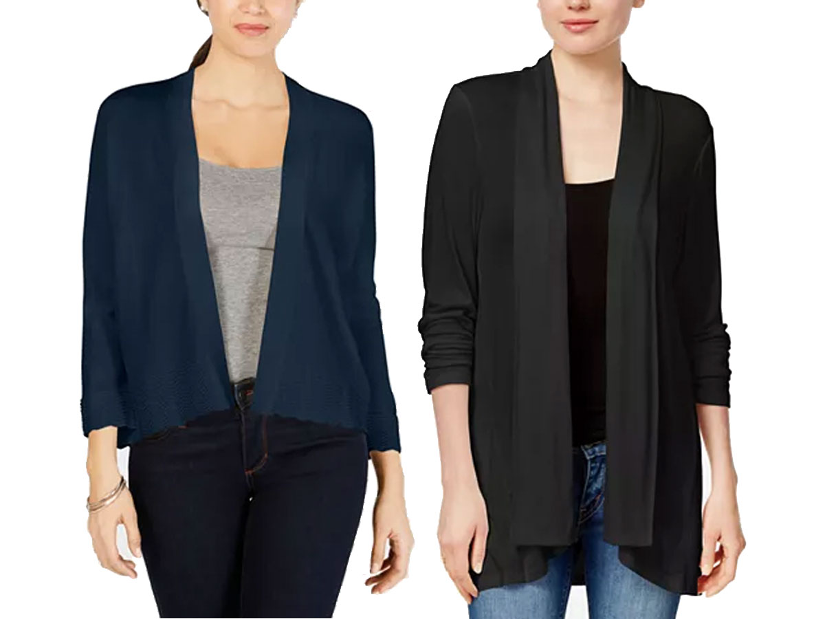 Charter Club Textured-Knit Open Cardigans