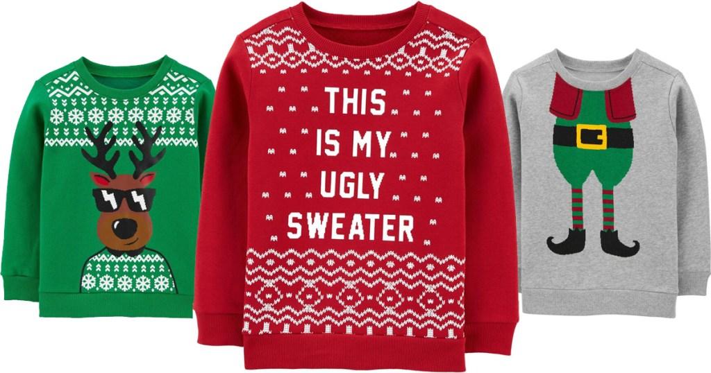 carters christmas sweatshirts