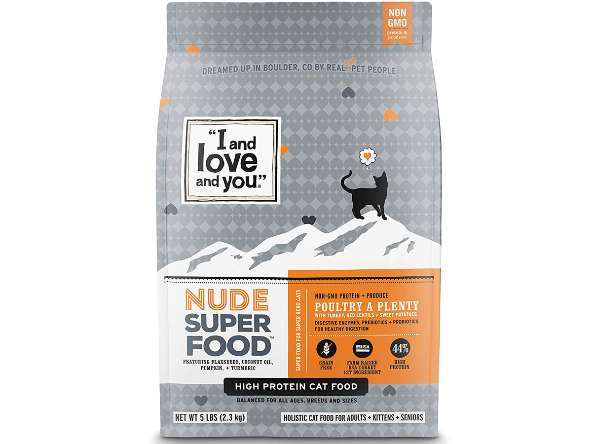"""""""I and love and you"""" Nude Dry 5lb Cat Food"""