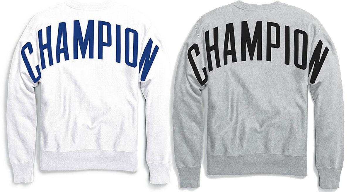 champion men's logo sweatshirts