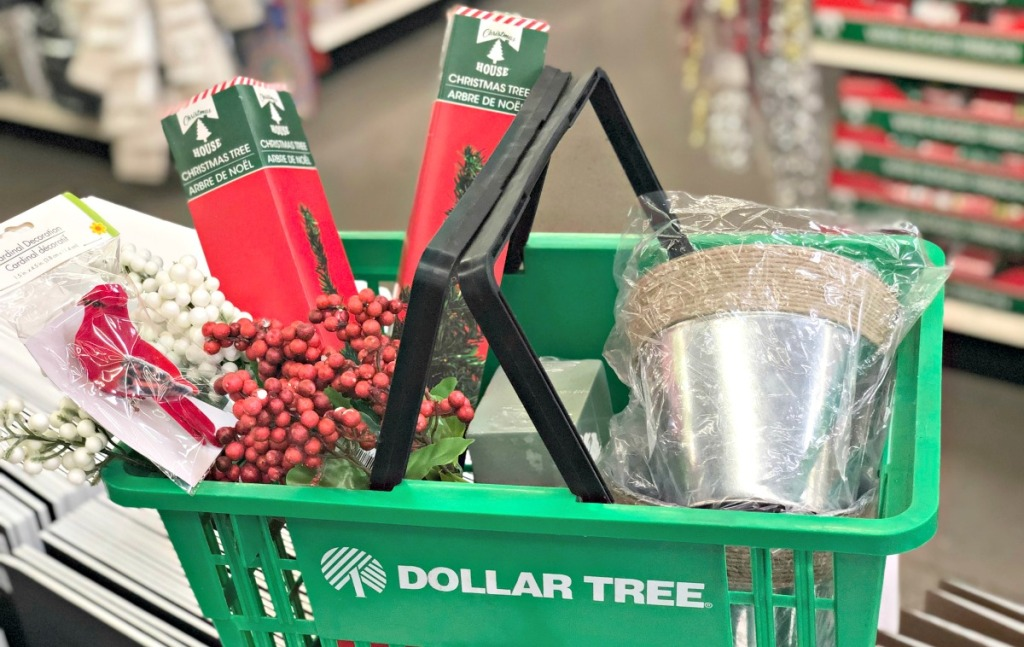 christmas trees from dollar tree
