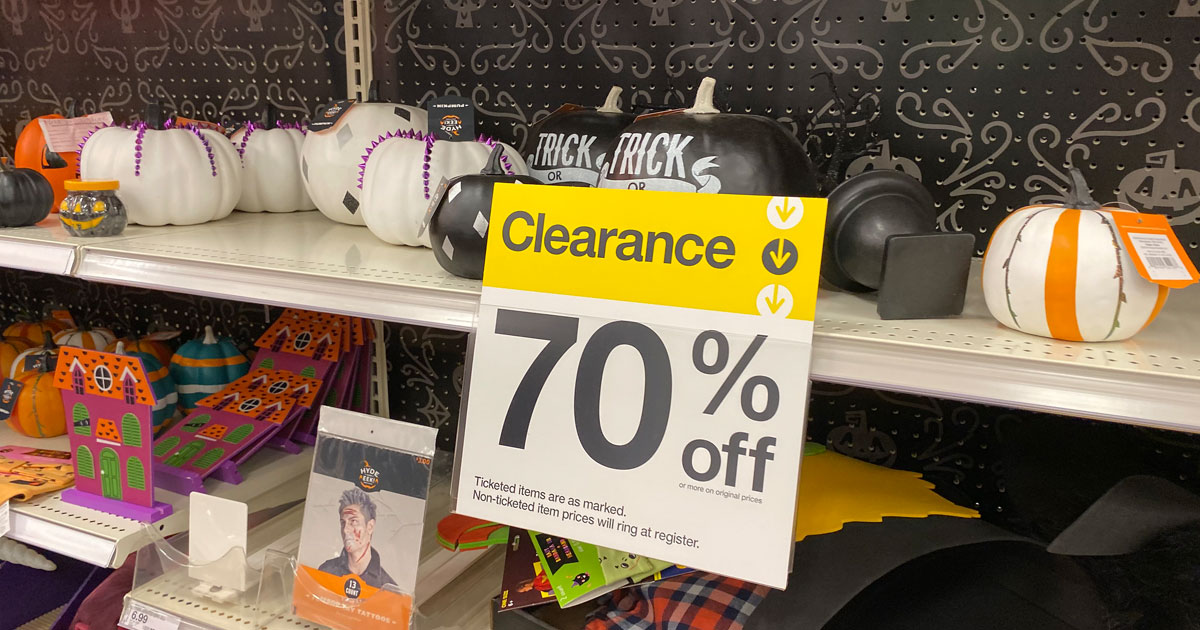 target in-store halloween clearance 70%
