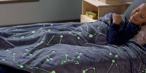 Glow-in-the-Dark Throws Only $14.99 at Zulily | Stars, Unicorns & More