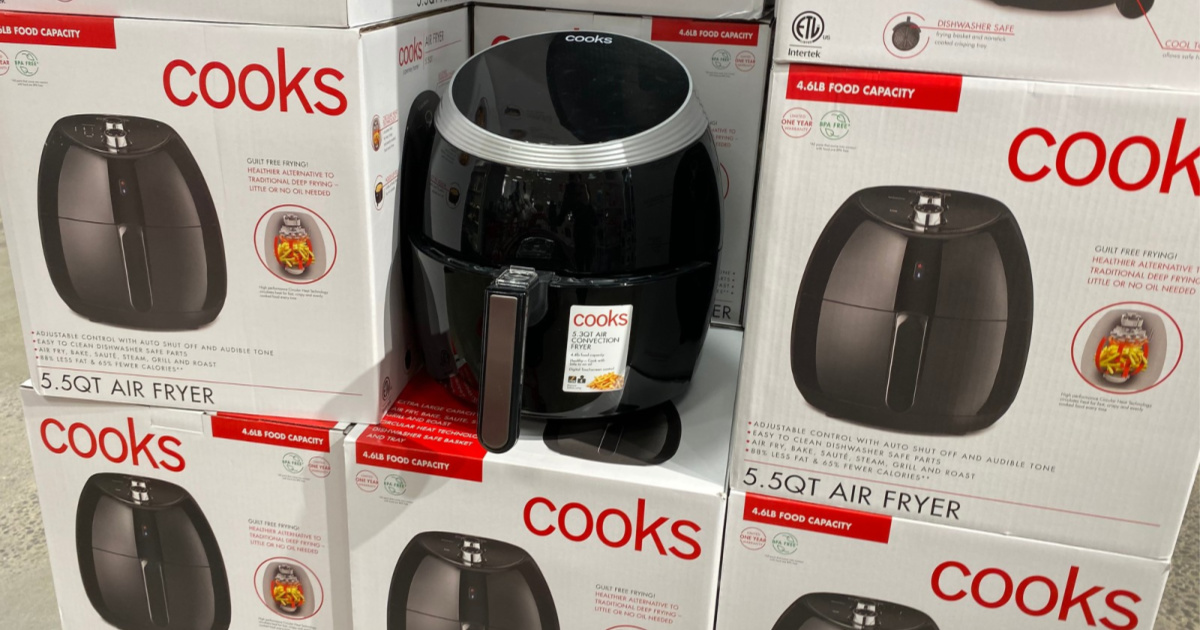 cooks air fryer on display in store