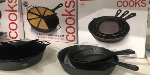 Cooks 3-Piece Cast Iron Skillet Set Only $17 on JCPenney.com (Regularly $60)
