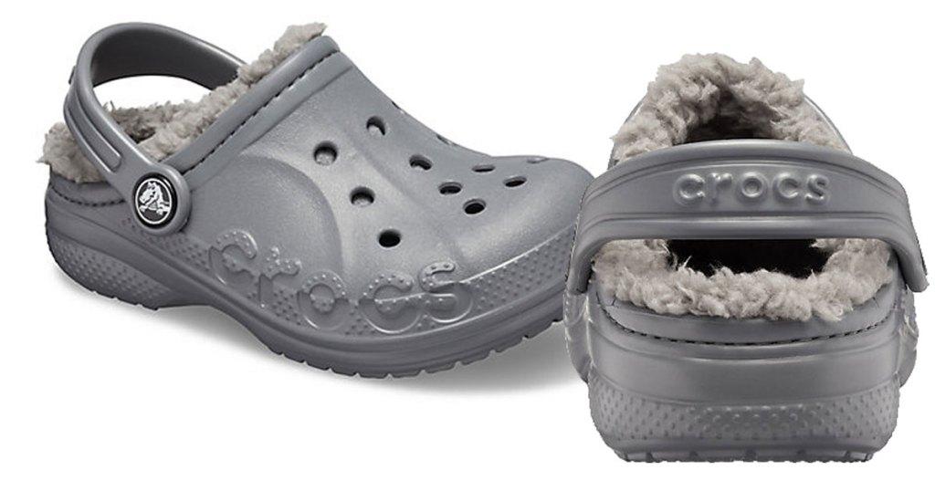 Kids Baya Crocs with fleece lining