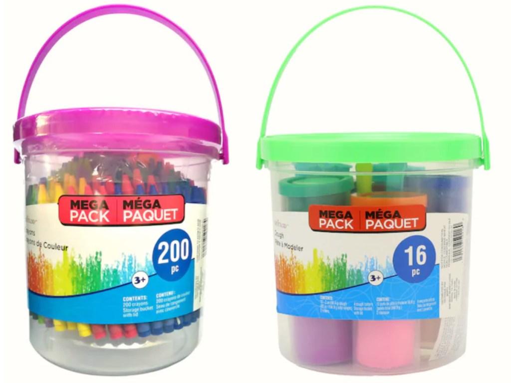 creatology crayon bucket with dough