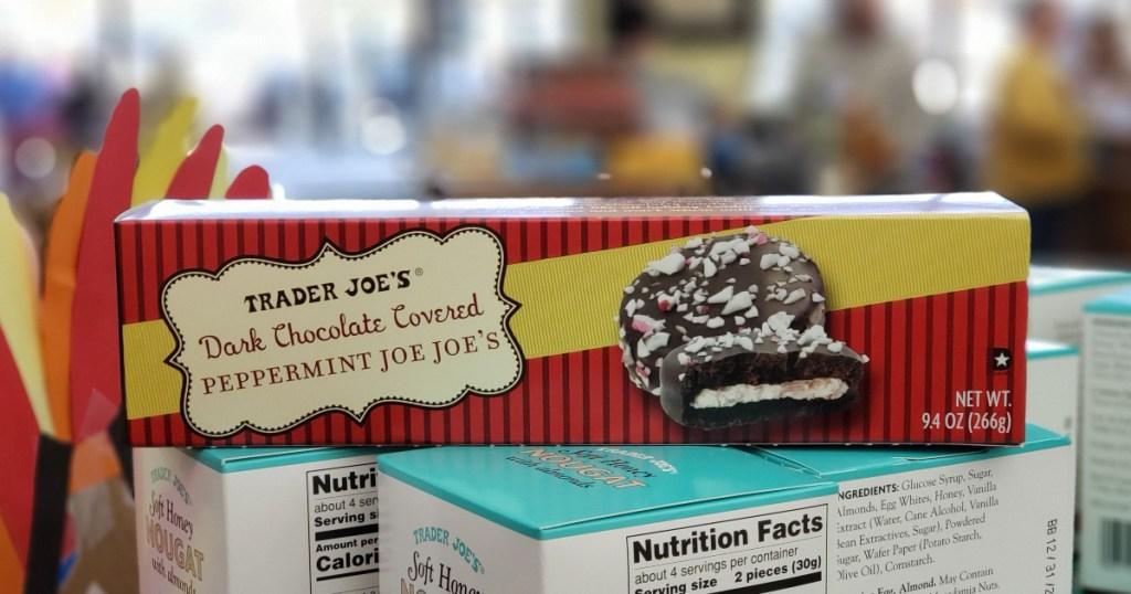Dark Chocolate Covered Peppermint Joe Joe's