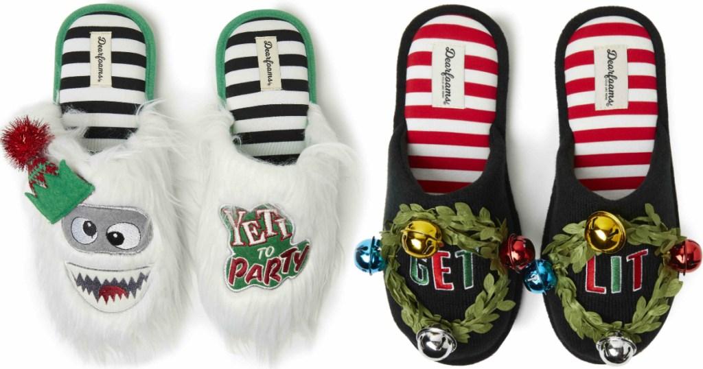 dearfoams-ugly-christmas-sweater-scuffs
