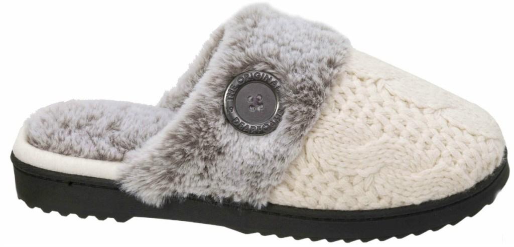 dearfoams-women-cable-knit-slippers