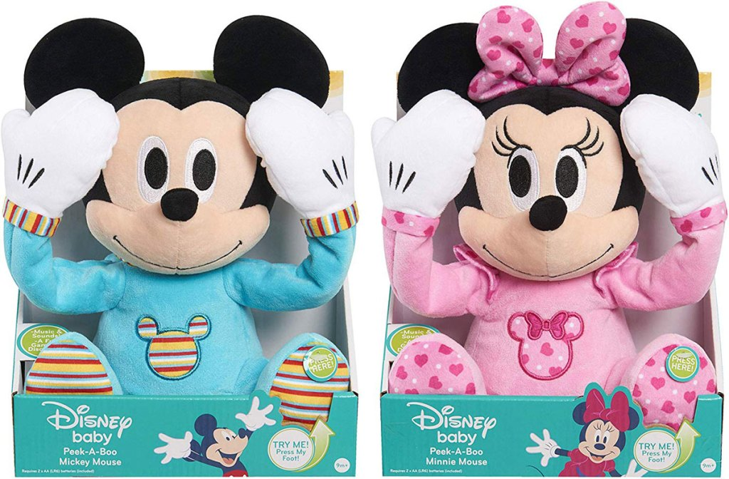 Disney Baby Peek a Boo Disney Baby Mickey Mouse and Minnie Mouse stock image