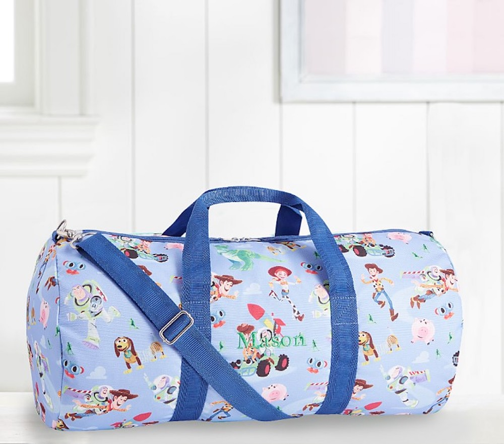 Toy Story duffle in kids room