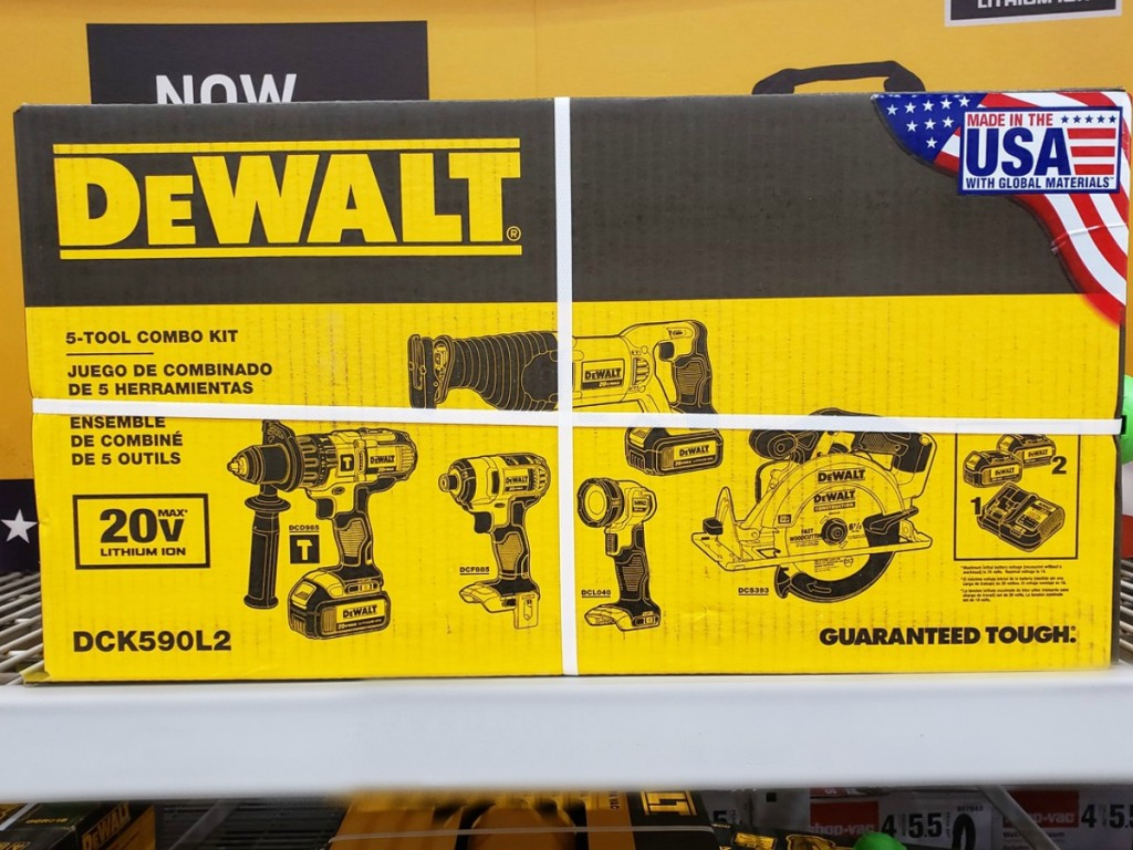 tool kit in box on store shelf