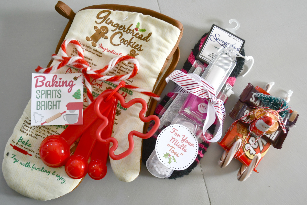 Christmas gift sets made from Dollar Tree items