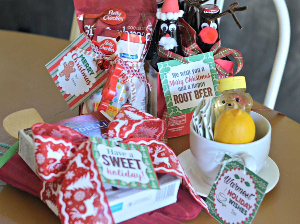 affordable Christmas gifts with free printable tags