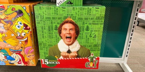 15 Days of Socks Advent Calendars Only $15 at Target | Elf, Star Wars, Harry Potter & More