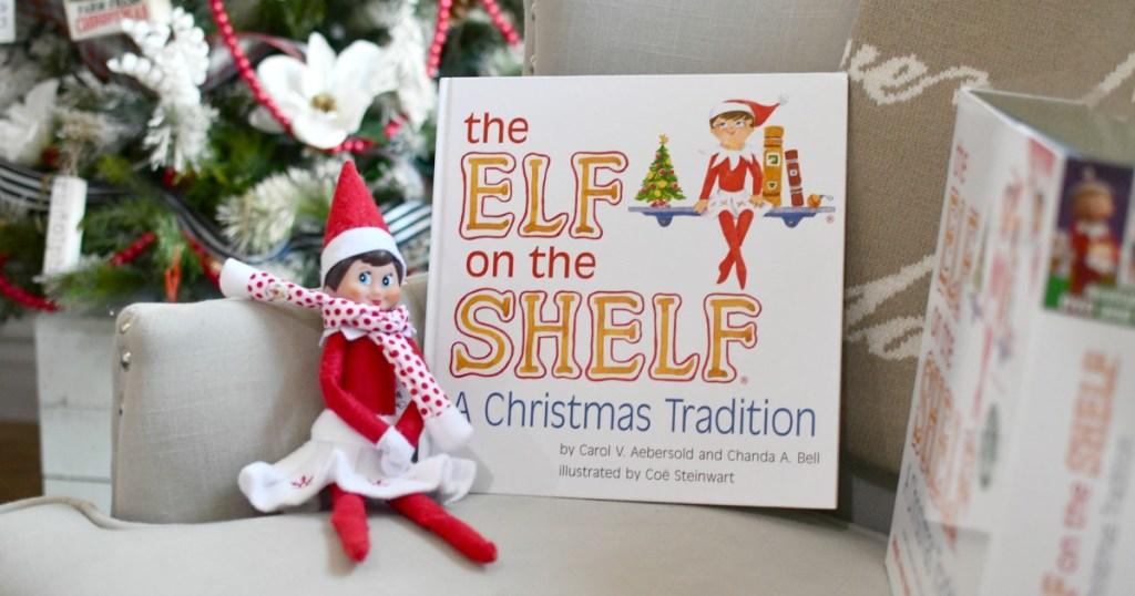 elf on the shelf book and girl elf