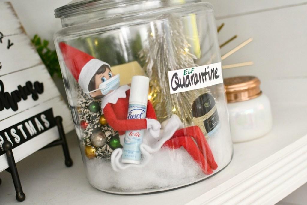elf with mask covid elf on the shelf idea