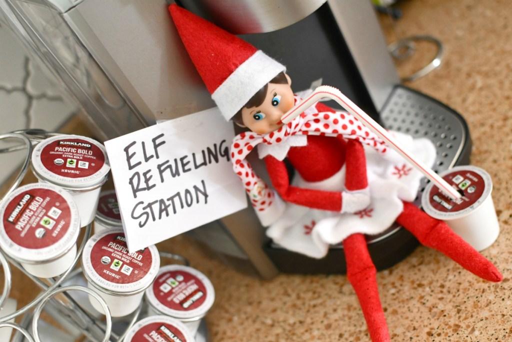 elf on the shelf refueling station