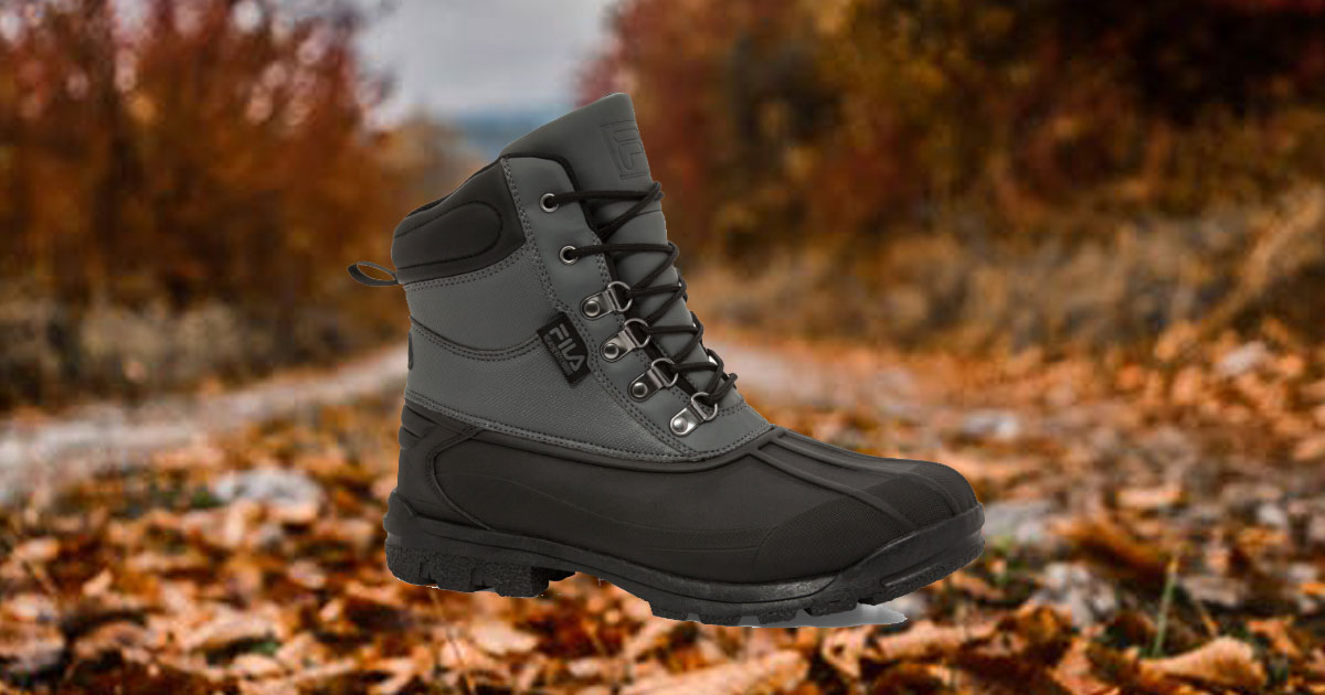 Fila Men's Weathertec Boots in a fall day setting