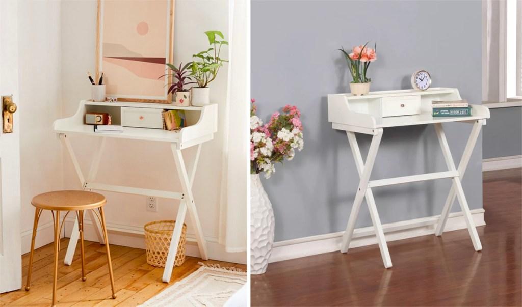 beautiful folding desk in a home