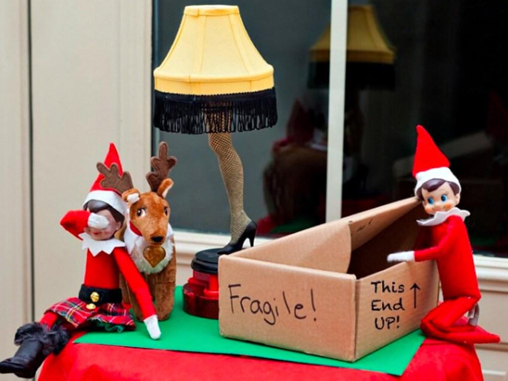 fragile lamp elf on the shelf