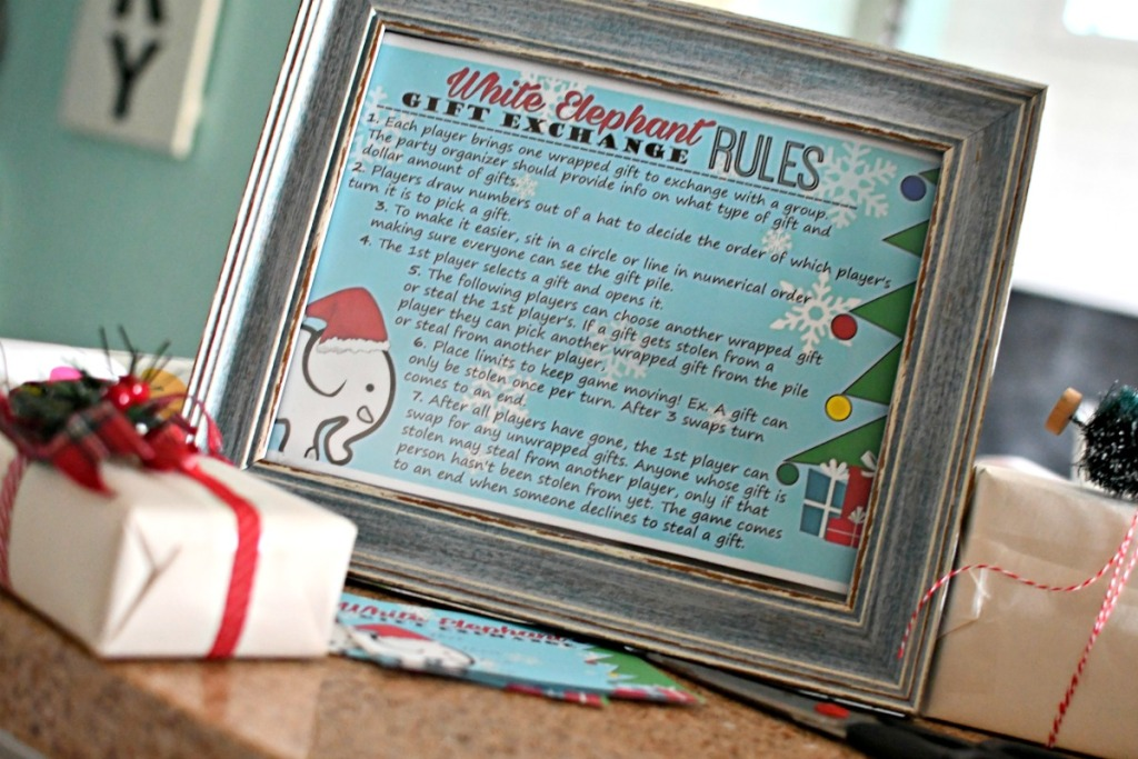 framed white elephant gift exchange rules