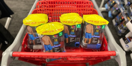 Fruit Of The Loom Men's Boxer Briefs 10-Pack or Tees 12-Pack Just $12.80 at Target
