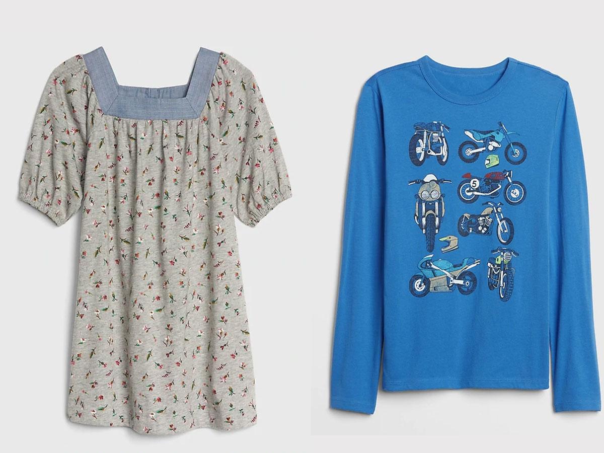 toddler girl dress and boy shirt clearance at the gap