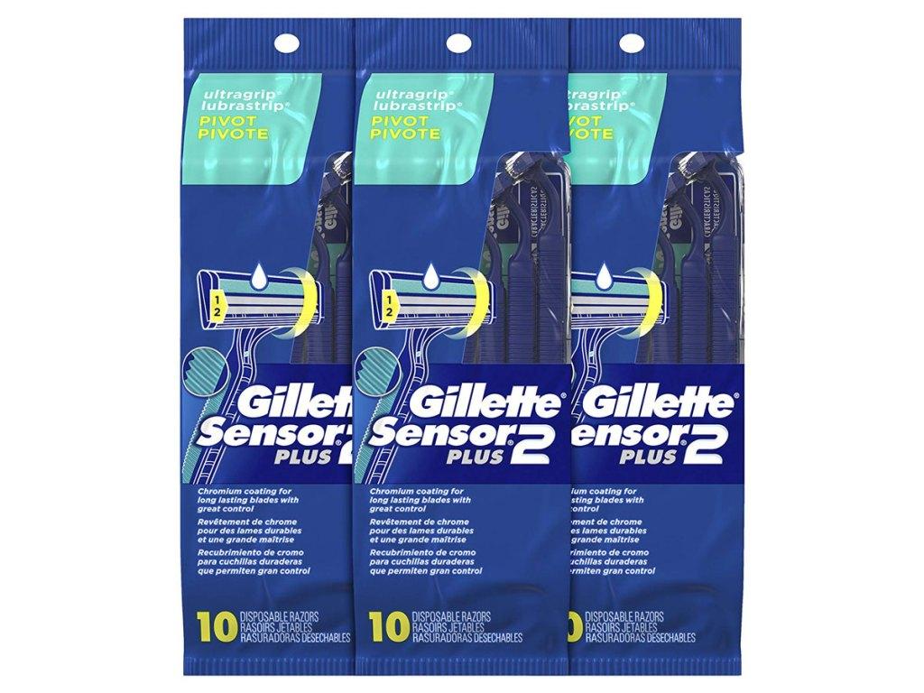 Gillette Sensor2 Pivoting Head + Lubrastrip Men's Disposable Razors