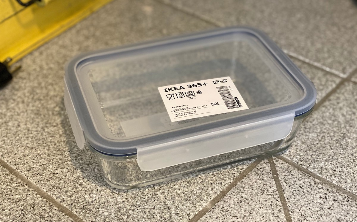 glass food container with lid