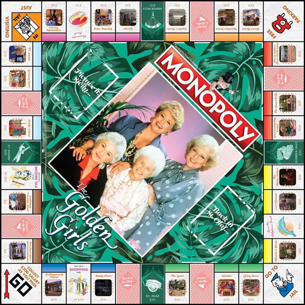board from The Golden Girls Monopoly Game