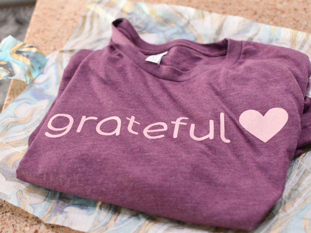 Grateful heart t-shirt from Fashion Friday
