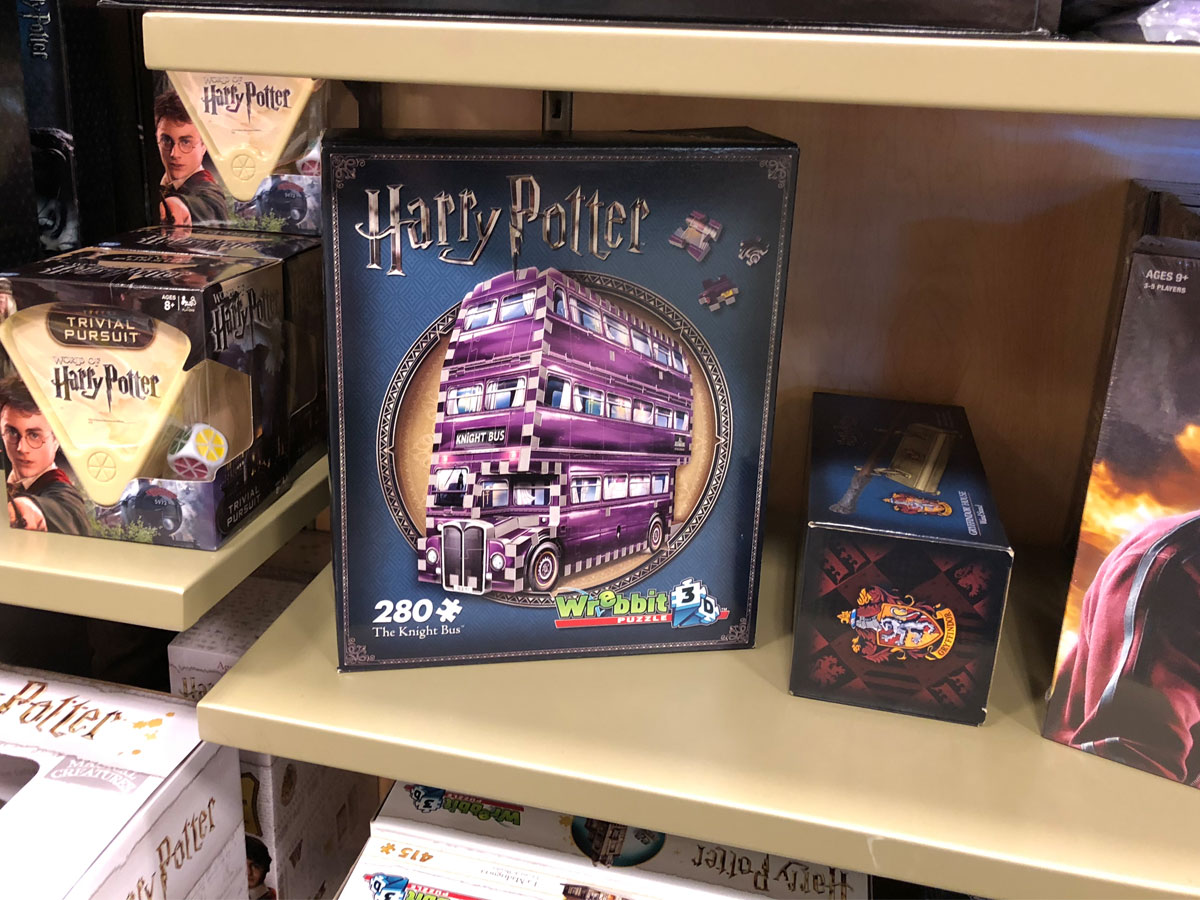 Wrebbit3D Harry Potter The Knight Bus Puzzle on a shelf in kohl's