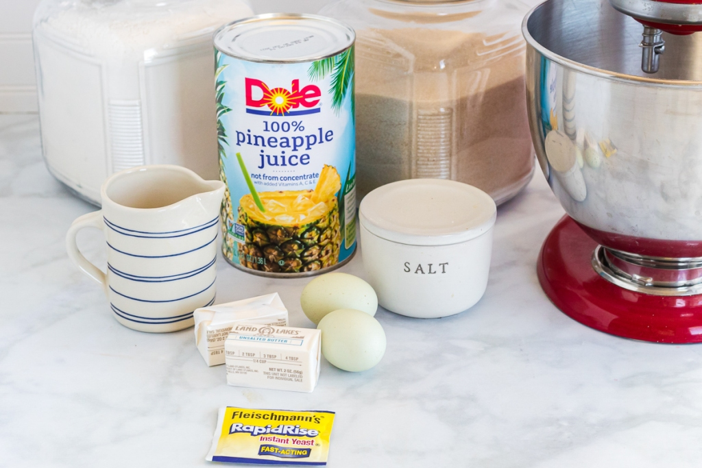 ingredients for dinner rolls