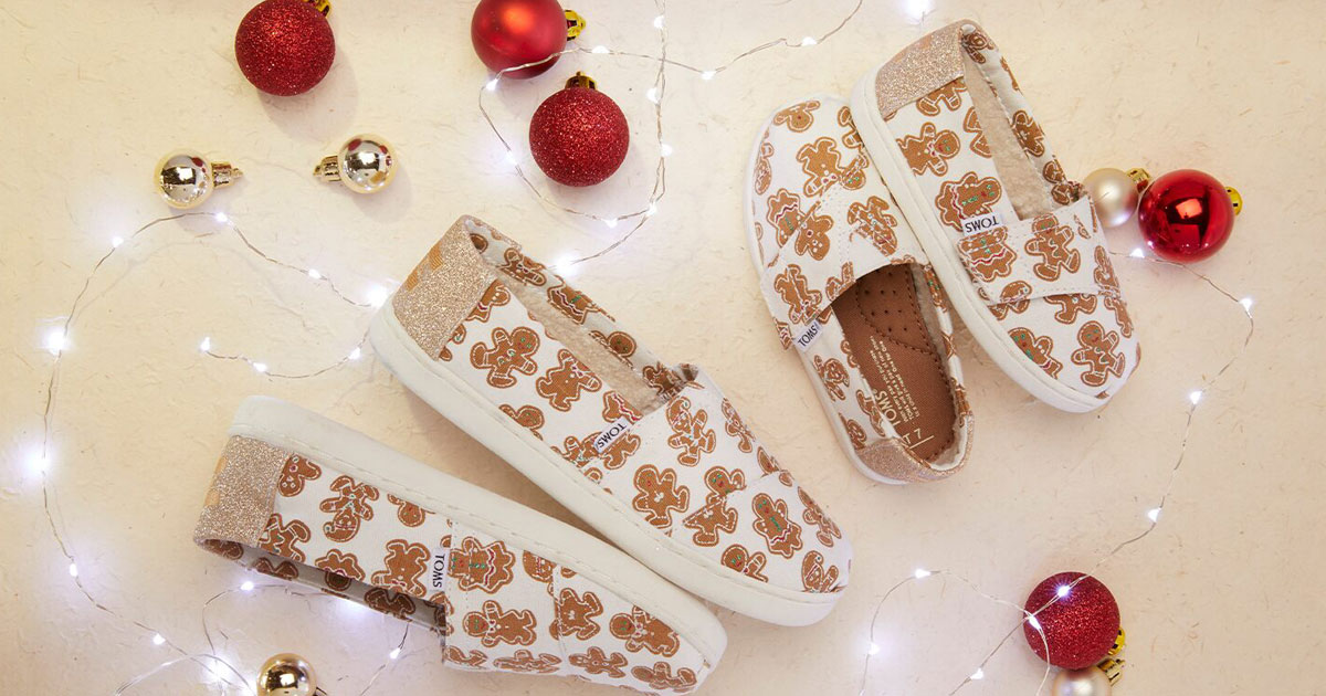 toms holiday gingerbread cookie shoes