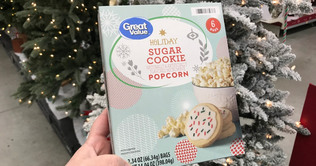 Holiday Sugar Cookie Popcorn at Walmart