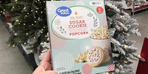 Walmart is Selling Microwavable Sugar Cookie Popcorn for Your Christmas Movie Marathon