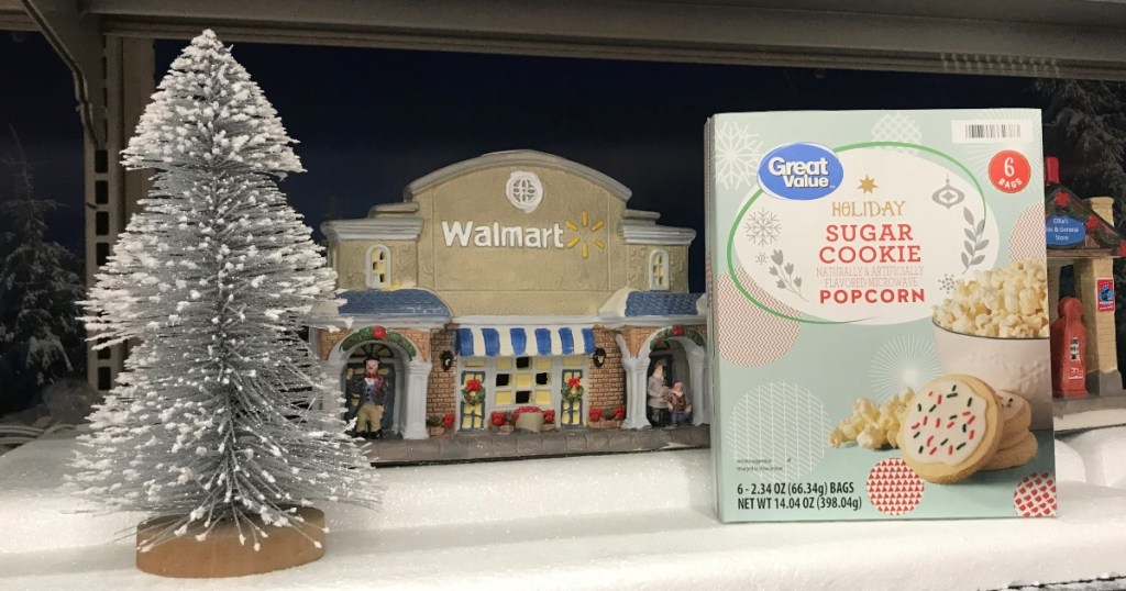 Holiday Sugar Cookie Popcorn in Walmart miniature village
