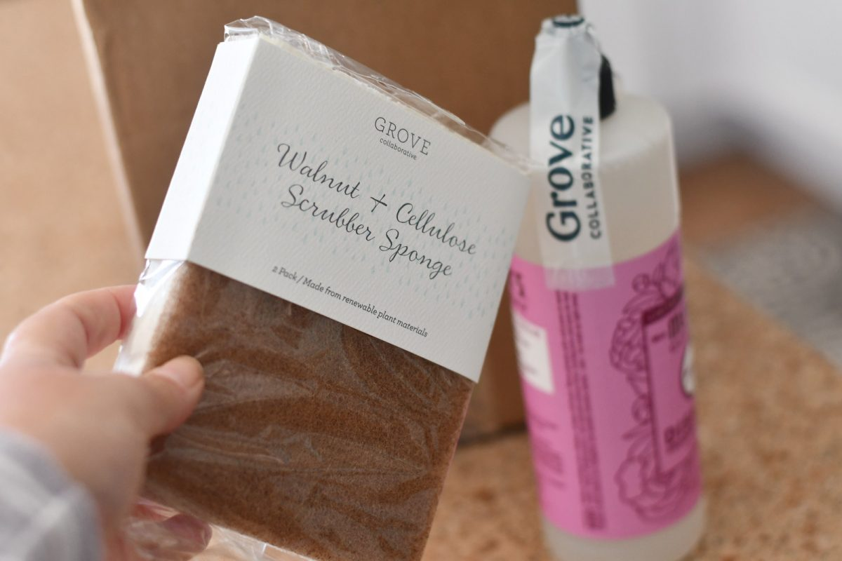 holding grove walnut scrubber sponge