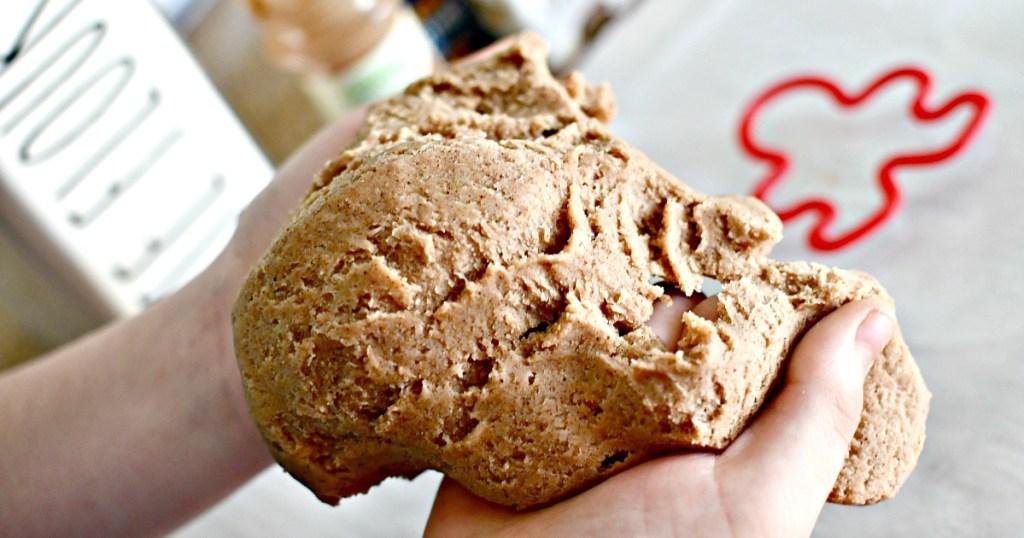 homemade gingerbread play dough