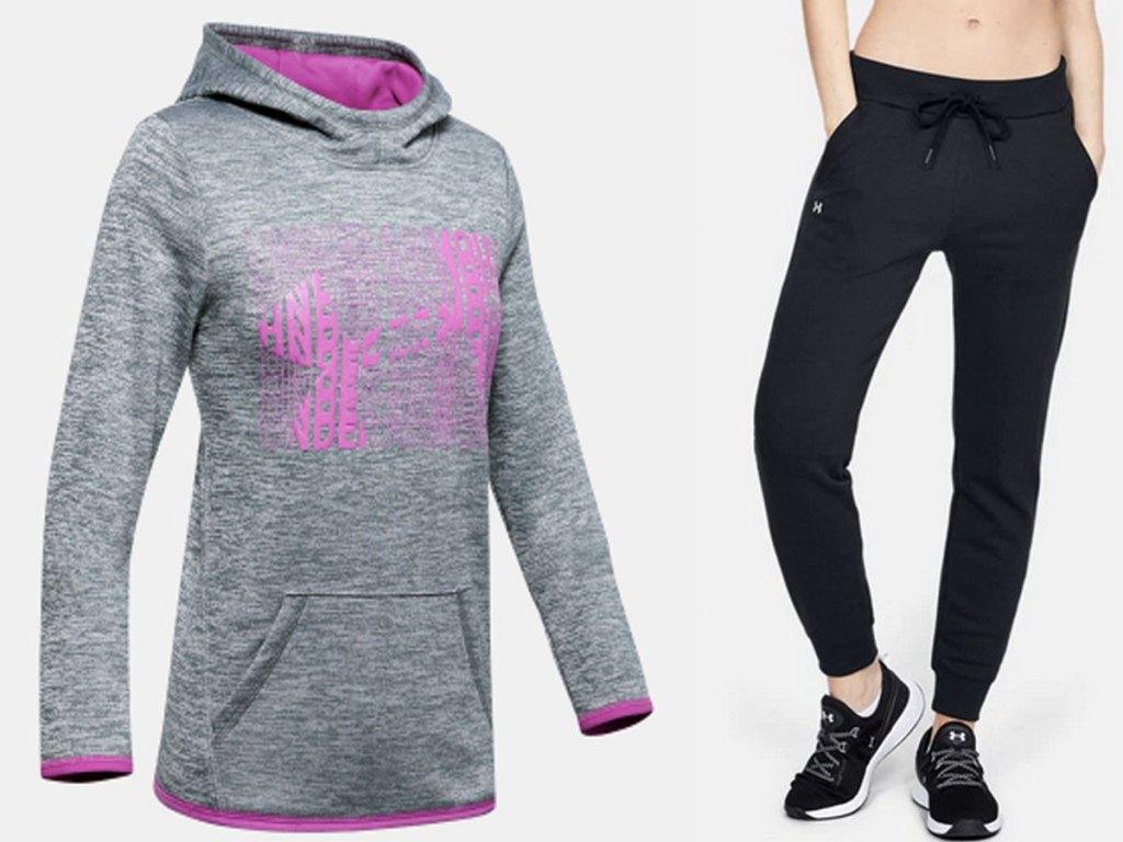 ua hoodies and sweats
