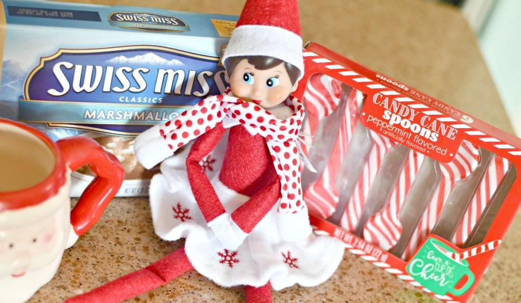 hot cocoa elf on the shelf idea