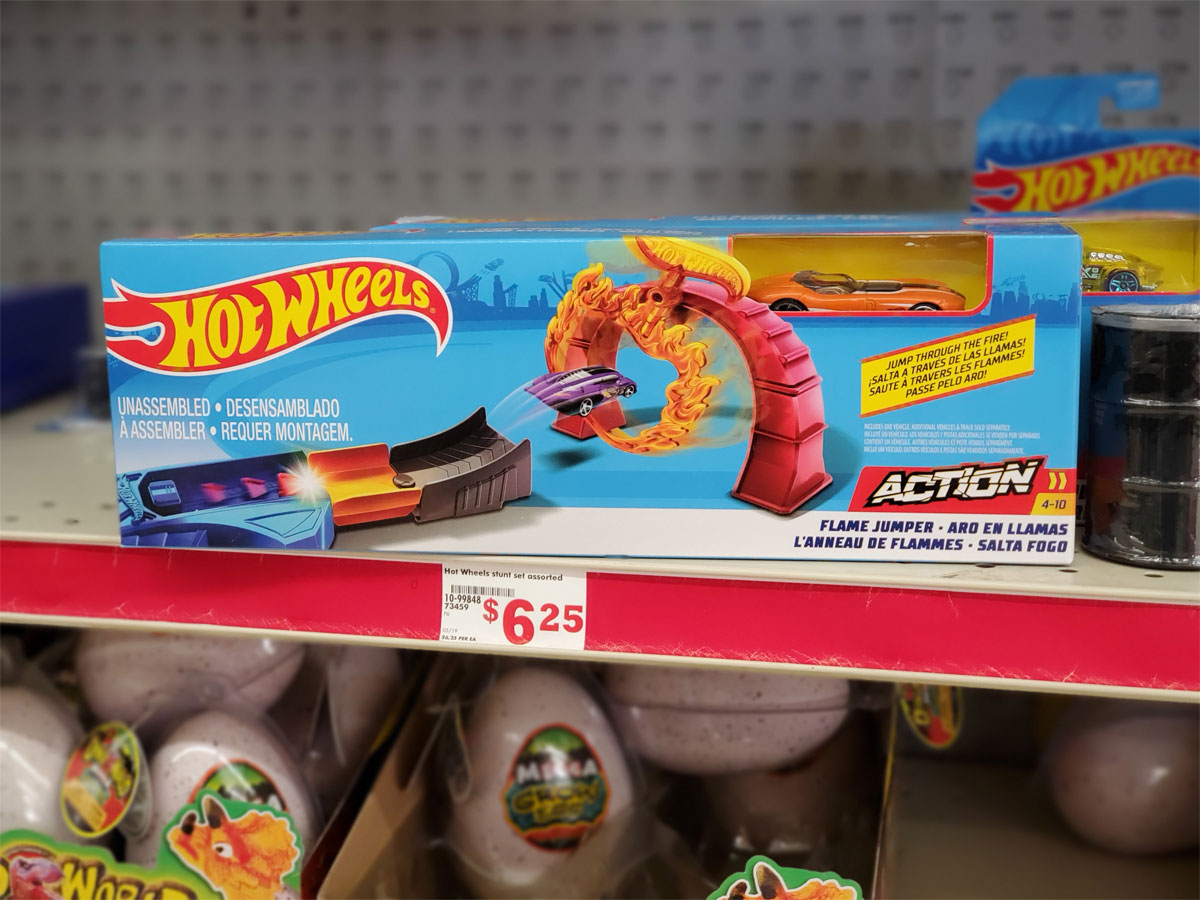 Hot Wheels Flame Jumper toy on store shelf
