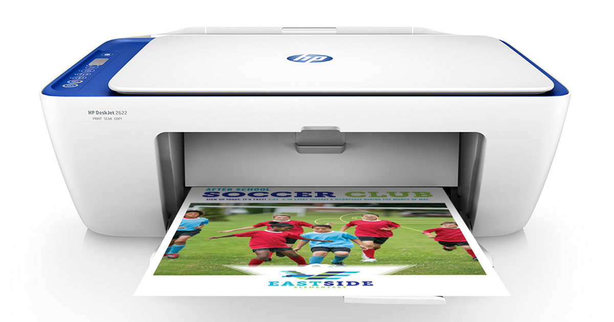 HP DeskJet 2622 All-in-One Compact Printer stock image