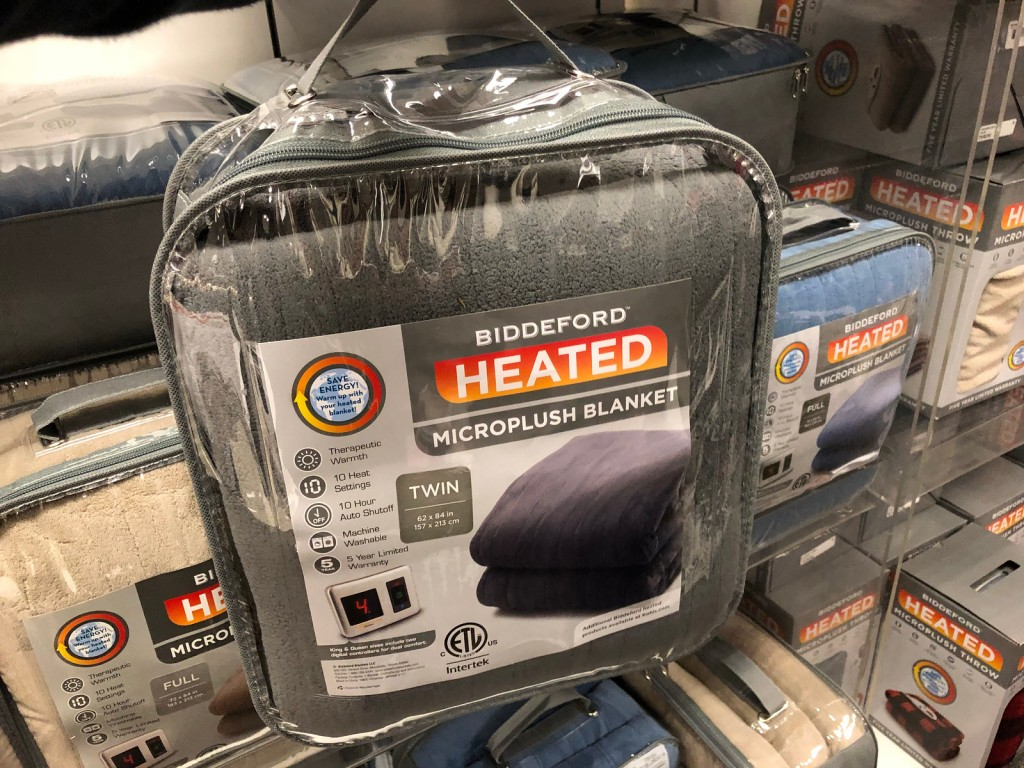 Biddeford Electric Heated Microplush Throw Only 19 At