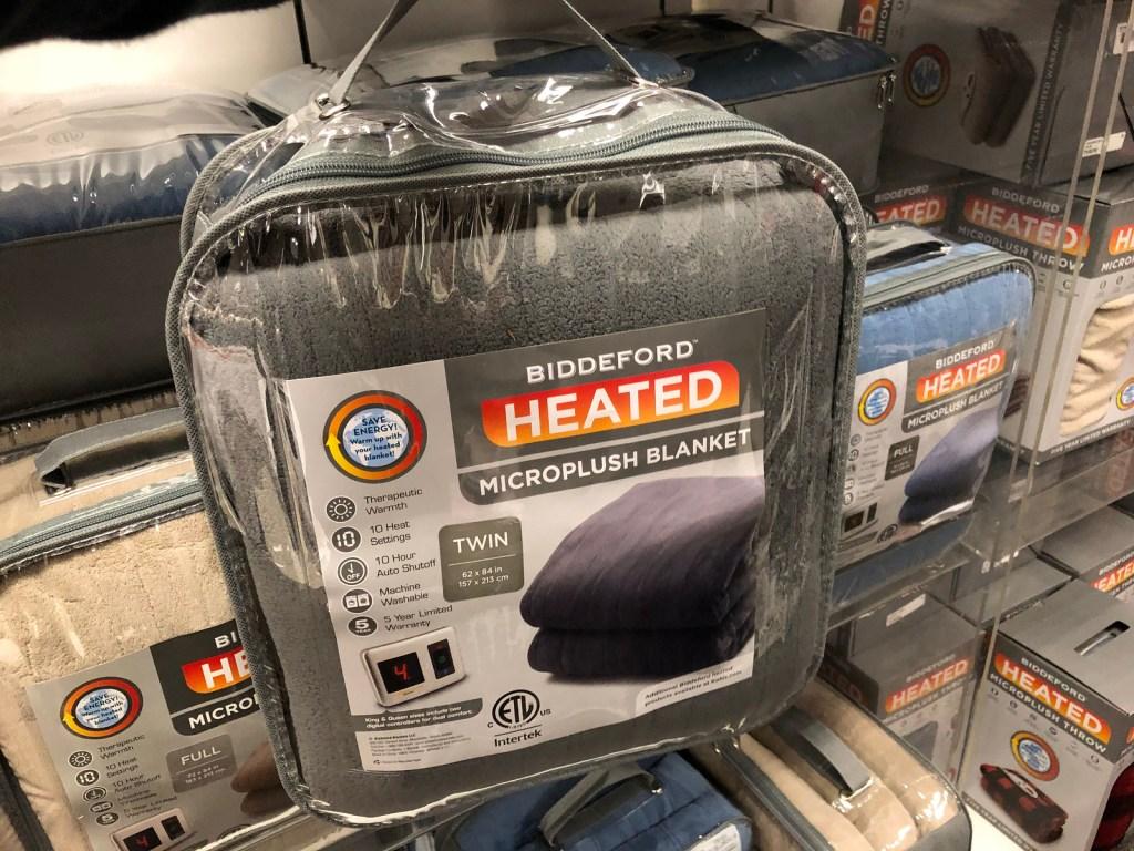 Biddeford Heated Blanket in package